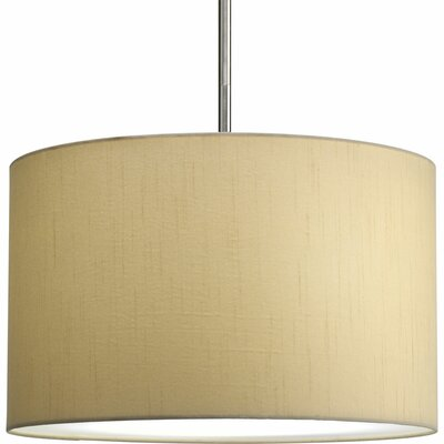 Yatendra Paper Drum Pendant Shade Finish: Beige Silk, Size: Medium