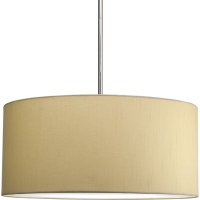 Markor Paper Drum Pendant Shade Finish: Beige Silk, Size: Large