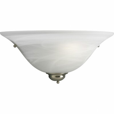 Estela 1-Light Wall Sconce Finish: Brushed Nickel, Shade Color: White Glass FDLL5873 42474713
