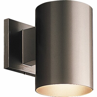Cylinder 1-Light Semi Flush Mount Shade Color: White