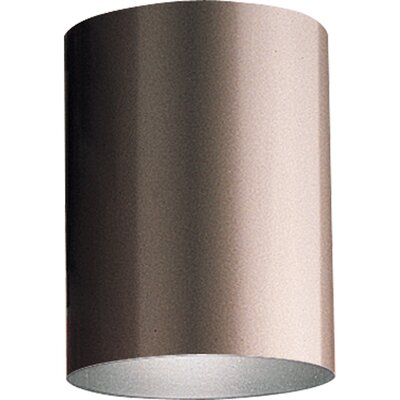 Cylinder 1-Light Flush Mount Finish: Bronze