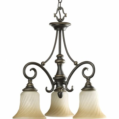 Kensington 3-Light Shaded Chandelier