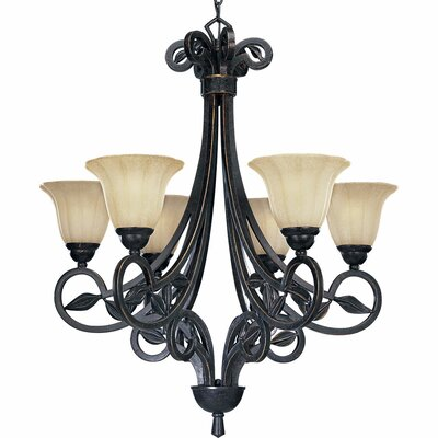 Triplehorn 6-Light Shaded Chandelier Finish: Espresso