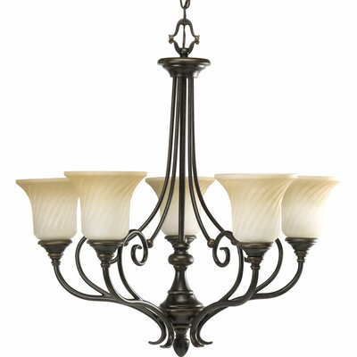 Terrie 5-Light Shaded Chandelier