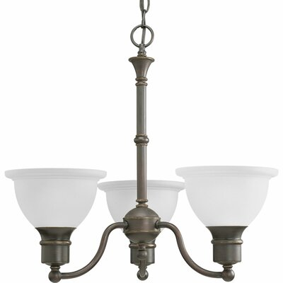 Gradall 3-Light Shaded Chandelier Finish: Antique Bronze