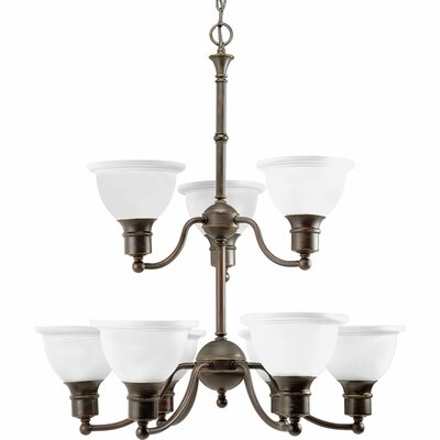 Gradall 9-Light Shaded Chandelier Finish: Antique Bronze