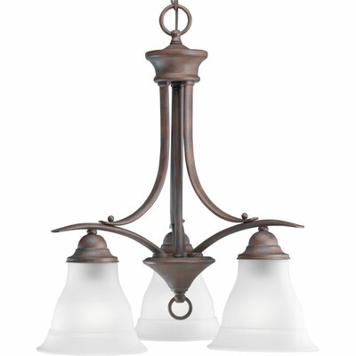 Trinity 3-Light Shaded Chandelier Finish: Antique Bronze