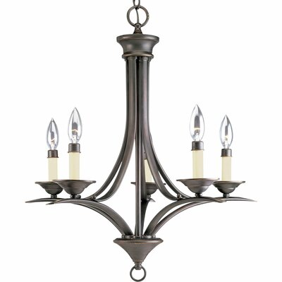 Roquefort 5-Light Candle-Style Chandelier Finish: Antique Bronze