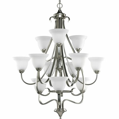 Lilly Traditional 12-Light Shaded Chandelier