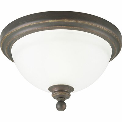 Gradall 1-Light Flush Mount Fixture Finish: Antique Bronze