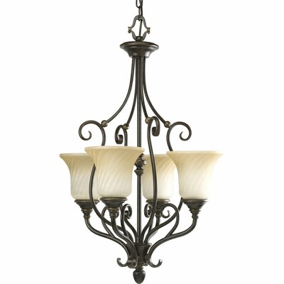 Terrie 4-Light Shaded Chandelier