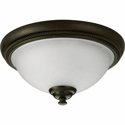 Adrienne Flush Mount Color: Brushed Nickel, Size: 6.375H x 15W