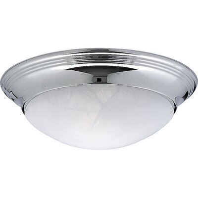 11.5 Century Flush Mount Finish: Chrome, Size: 3 3/4H x 11 1/2W x 11 1/2D