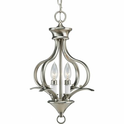 Roquefort 2-Light Foyer Pendant Finish: Brushed Nickel