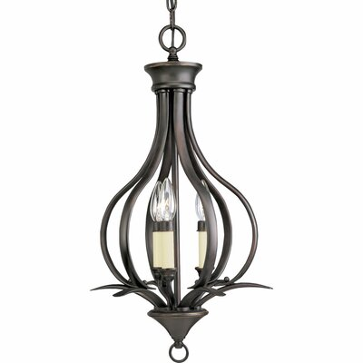 Trinity 3-Light Foyer Pendant Finish: Antique Bronze