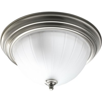 Bodnar 2-Light Semi Flush Mount Finish: Brushed Nickel
