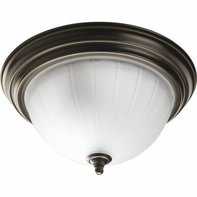 Bodnar 2-Light Semi Flush Mount Finish: Antique Bronze