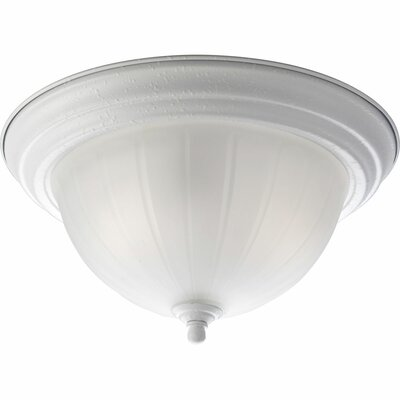 2-Light Semi Flush Mount Finish: White