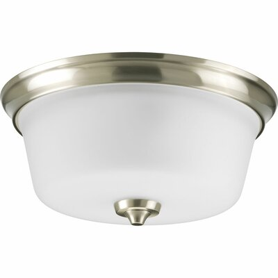 Lahara 2-Light Flush Mount Finish: Brushed Nickel