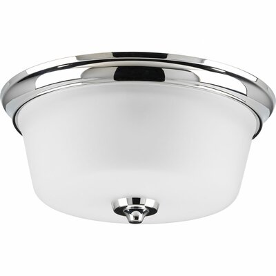 Lupita 2-Light Flush Mount Finish: Polished Chrome
