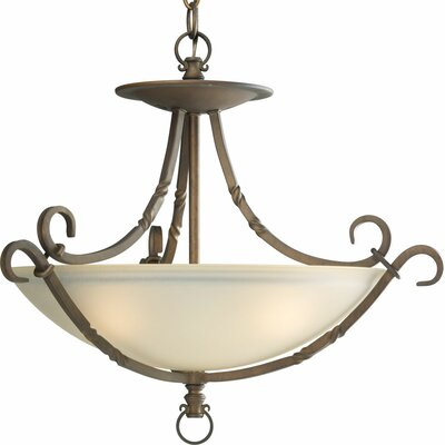 Jakes 3-Light Bowl Pendant