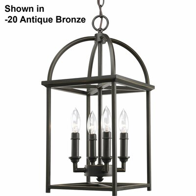 Piedmont 4-Light Foyer Pendant Finish: Burnished Silver