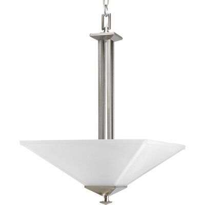 Chickamauga 2-Light Inverted Pendant in Brushed Nickel