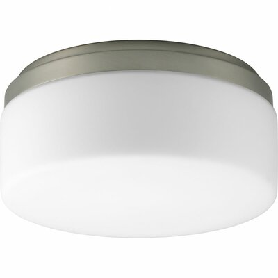 Siddharth 1-Light Close-To-Ceiling Flush Mount Size: 4 H x 9 W