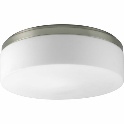 Siddharth 1-Light Close-To-Ceiling Flush Mount Size: 4.5 H x 14 W