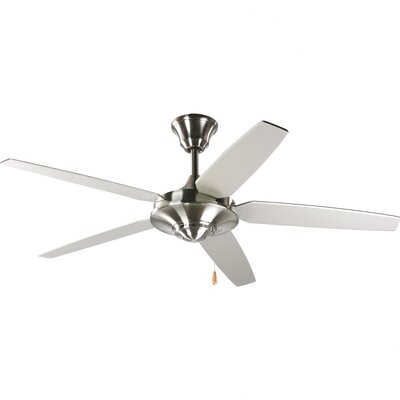 54 Stagg 5-Blade Ceiling Fan Finish: Brushed Nickel with Silver / Cherry Blades
