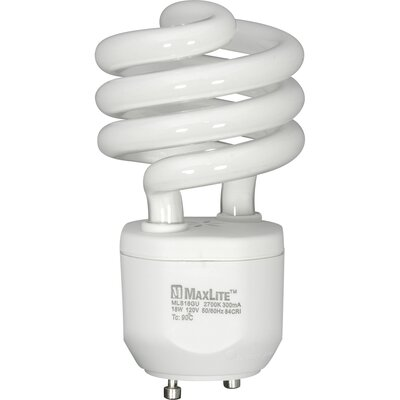 White Compact Fluorescent Light Bulb Wattage: 18W