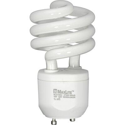White Compact Fluorescent Light Bulb Wattage: 18W