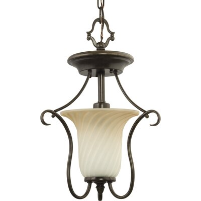Terrie 1-Light Close-To-Ceiling Foyer Pendant