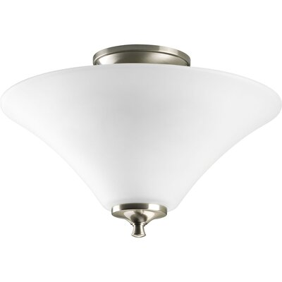 Oliver 2-Light Contemporary Semi Flush Mount