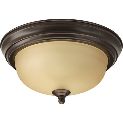 Alabaster 1-Light Flush Mount in Antique Bronze Size: 5.5 H x 11.375 W, Energy Star: No