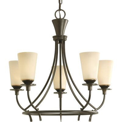 Risha Traditional 5-Light Shaded Chandelier