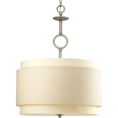 Frieda 3-Light Metal Drum Pendant