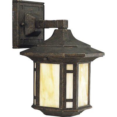 Arts and Crafts One Light Wall Lantern in Cobblestone