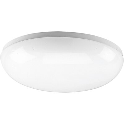 Hussein Round White Fluorescent Ceiling Cloud Size: 14 Diameter, Height: 3-5/8