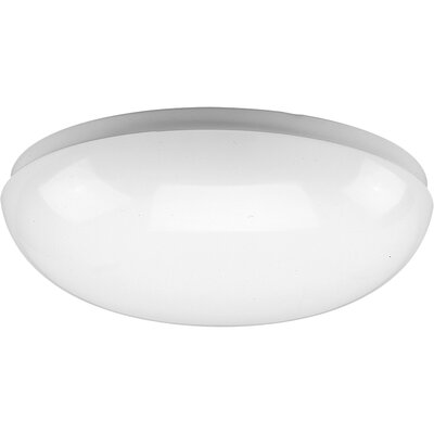 Hussein Round White Fluorescent Ceiling Cloud Size: 10-7/8 Diameter, Height: 3-1/4