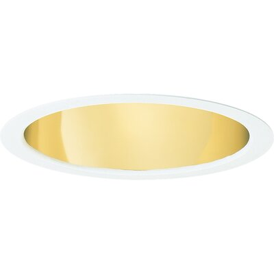 Open Downlight Wide Flange 5.75 Recessed Trim Finish: Gold Alzak