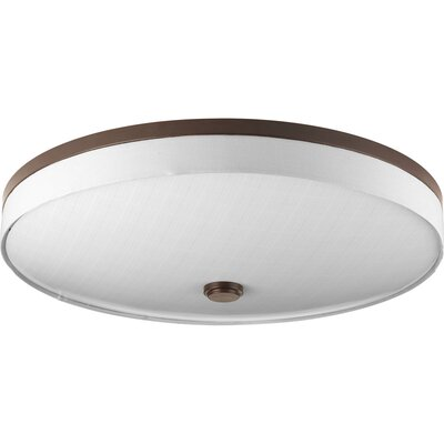 Gaurav 3-Light Flush Mount Finish: Antique Bronze