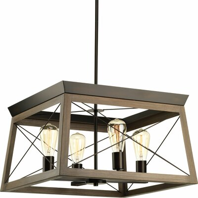 Blevins 4-Light Foyer Pendant Finish: Antique Bronze