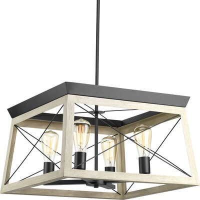 Blevins 4-Light Foyer Pendant Finish: Graphite