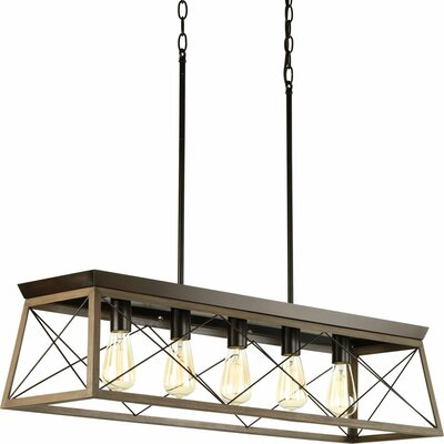 Delon 5-Light Kitchen Island Pendant Finish: Antique Bronze