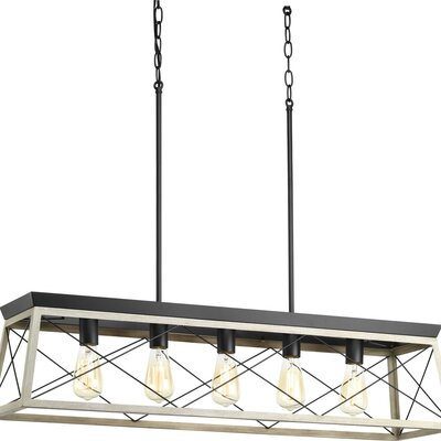 Delon 5-Light Kitchen Island Pendant Finish: Graphite