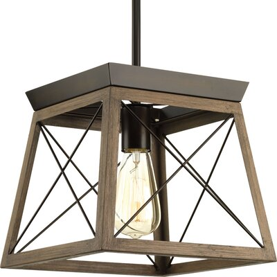 Blevins 1-Light Mini Pendant Finish: Antique Bronze