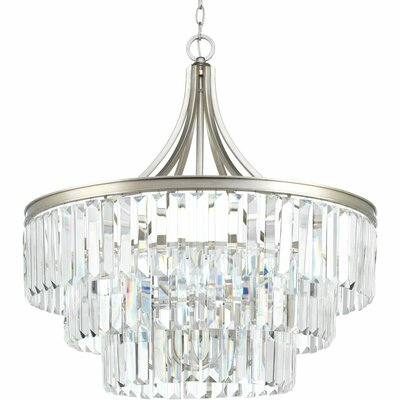 Eggar 6-Light Crystal Chandelier Finish: Silver Ridge