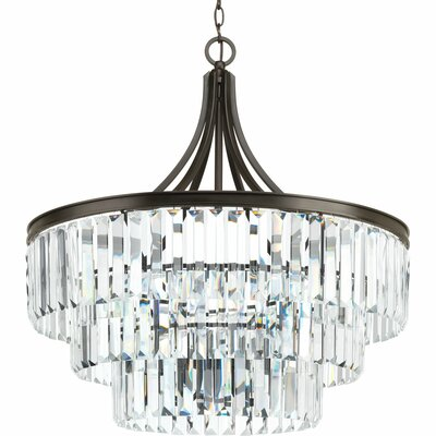 Eggar 6-Light Crystal Chandelier Finish: Antique Bronze