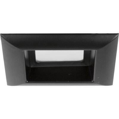 4 LED Square Recessed Trim Finish: Black
